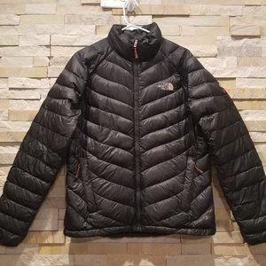 North Face Womens Large 800 Down Black Puffer Coat